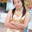 Happy Chinese new year - beautiful young Asian woman - Stockfoto
