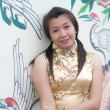 Happy Chinese new year - beautiful young Asian woman — Foto de Stock