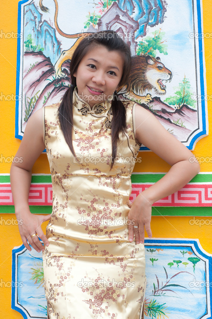 Happy Chinese new year - beautiful young Asian woman  Stock Photo #8650111