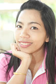 Attractive Young asian woman with smiling — Stock Photo