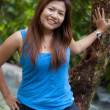 Asian thai attractive woman in forest — Stock Photo