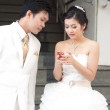 Asian Bride and groom — Stock Photo #9927902