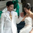 Asian Bride and groom — Stock Photo