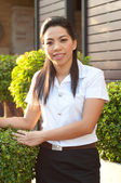Asian college student woman — Stock Photo