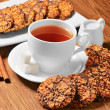 Cookies with tea — Stock Photo