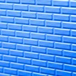 Wall of metallic bricks — Stock Photo