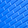 Wall of metallic bricks - Stock Photo