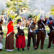 Historical military reenacting — Stock Photo