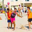 Match of the 19th league of beach handball, Cadiz — ストック写真