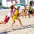 Match of the 19th league of beach handball, Cadiz — Stok fotoğraf