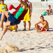 Match of the 19th league of beach handball, Cadiz — Foto Stock