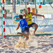 Match of the 19th league of beach handball, Cadiz — Zdjęcie stockowe