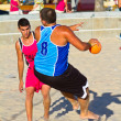 Royalty-Free Stock Photo: Match of the 19th league of beach handball, Cadiz