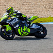 Andrea Iannone pilot of Moto2 in the MotoGP - 图库照片