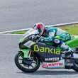 Hector Faubel pilot of 125cc  of the MotoGP - Stock Photo