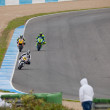 Stock Photo: Begin of training of Moto2 of CEV