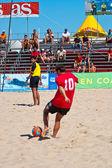 Spanische meisterschaft der beach-soccer, 2005 — Stockfoto
