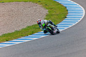 Hector Faubel pilot of 125cc of the MotoGP — Stock Photo