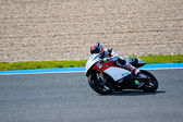 Piloto de louis rossi de 125cc na motogp — Foto Stock