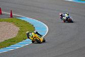 Simone Corsi and Esteve Rabat pilots of Moto2 of the MotoGP — Stock Photo