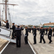 Midshipmen of the ship Juan Sebastian de Elcano - Foto Stock