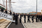 Midshipmen of the ship Juan Sebastian de Elcano — Stock Photo