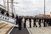 Midshipmen of the ship Juan Sebastian de Elcano — Stock Photo