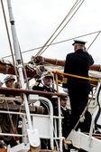 Admiral embarking — Stock Photo