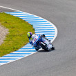 Sergio Gadea pilot of  125cc in the MOTOGP — Stock Photo