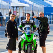 Royalty-Free Stock Photo: Adria Araujo pilot of Kawasaki Ninja Cup