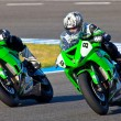 Stock Photo: Araujo(8) and Cruz(9) pilots of Kawasaki NinjCup
