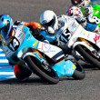 Kumar(14), Fenati(15) and Guevara(58) 125cc pilots - Stock Photo