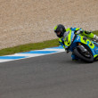 Jordi Torres pilot of MOTO2 in the CEV — Stock Photo
