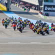 Stock Photo: Begin of race of Moto2 of CEV Championship