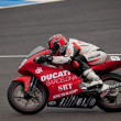 Javier Martinez pilot of 125cc in the CEV — Stock Photo