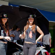 Pitbabes of a team Hype of 125cc of the CEV — Stock Photo