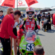 Juanfran Guevara pilot of 125cc  of the CEV Championship - Stock Photo