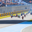 Stock Photo: Uneven begin of race of 125cc of CEV Championship