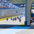 Uneven begin of the race of 125cc of the CEV Championship — Stock Photo