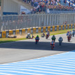 Uneven begin of the race of 125cc of the CEV Championship - Stock Photo