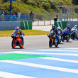 Begin of the race of 125cc  of the CEV Championship — Lizenzfreies Foto