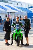 Adria Araujo pilot of Kawasaki Ninja Cup — Stockfoto