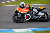 Jorge Castellanos pilot of MOTO2 in the CEV — Stock Photo