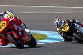 Moto2 voleybol şampiyonası pilotlar — Stok fotoğraf