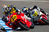 Pilots of Moto2 of the CEV Championship — Foto de Stock
