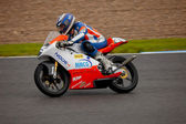 Taylor Mackenzie pilot of 125cc in the CEV — Stock Photo