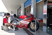 Mori syunya piloot van 125cc van het cev kampioenschap — Stockfoto