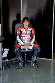 Mori Syunya pilot of 125cc of the CEV Championship — Stock Photo