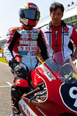 Mori Syunya pilot of 125cc of the CEV Championship — Stock Photo