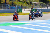 Rozpoczęcie wyścigu 125cc championship cev — Zdjęcie stockowe